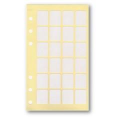 Etichette adesive bianche 21x12 per agende 9,5x17 ( 5 fogli) totale 120 etichette