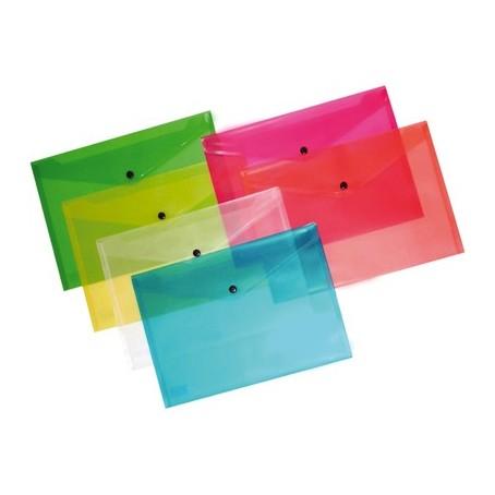 Buste con bottone A7 ( 5 pezzi ) 10x14 bottone in plastica