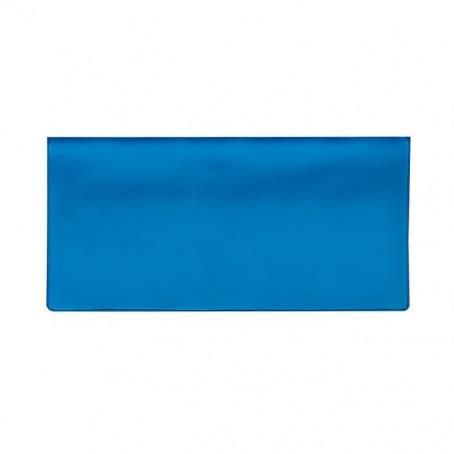 Porta biglietti aereo porta lotto pvc blu con 2 tasche interne