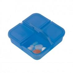 portapillole mini da 4 scomparti indipendenti ( 2 pezzi) in pvc resistente blu
