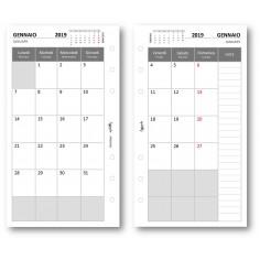 Ricambio agenda 2019 mensile bianco 9,5 x 17 ricambio agenda organizer