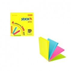 Blocco Fogli adesivi riposizionabili 4 colori 76x76 NEON (1 pezzi)