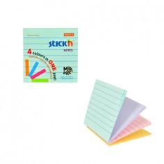 Blocco Fogli adesivi riposizionabili 4 colori 76x76 righe e pastello (1 pezzi)