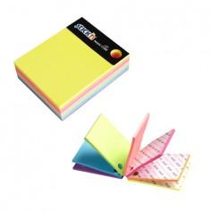 Magic cubo Fogli adesivi riposizionabili 76x76 + index 76x26 e portapenna in colori neon
