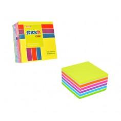 Foglietti adesivi riposizionabili cubo 76x76 ( 400 fogli ) Neon + bianchi