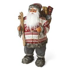 Babbo Natale con laterna ROSSO alto ben 80 cm