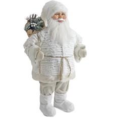 Babbo Natale con sacca tutto BIANCO alto ben 80 cm