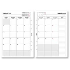 Ricambio agenda 2019 mensile a caselle 14x21,5 per agenda organizer