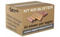 Blister contenitori per monete Euro 400 pezzi assortiti ( 50 pezzi per taglio )in plastica trasparente