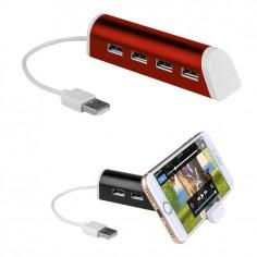 Hub USB 4 porte con porta cellulare colore rosso ( 1 pezzo )