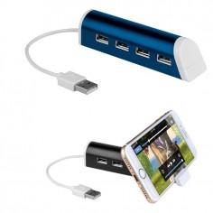 Hub USB 4 porte con porta cellulare colore blu ( 1 pezzo )