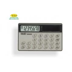 Calcolatrice carta di credito senza tasti e solare 8x5 cm