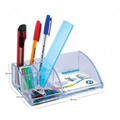 Porta penne ed accessori in acrilico trasparente organizza scrivania