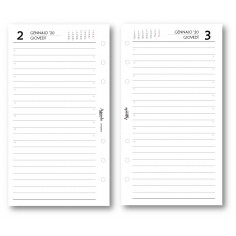 Ricambio agenda 2020 giornaliero ESSENTIAL bianco (9,5 x 17) ricambio agenda organizer