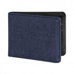 Porta carte di credito a portafogli tipo jeans con sistema RFID per antitruffa 6 tasche blu