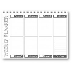 Planning da tavolo 21x30 SPIRALATO fantasia PUZZLE ( 55 fogli da 90 gr ) agenda da tavolo datata