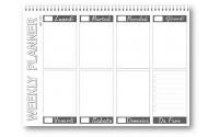 Planning da tavolo 21x30 SPIRALATO fantasia grigio ( 55 fogli da 90 gr ) agenda da tavolo datata