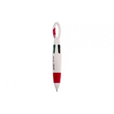 Mini Penna a sfera 4 colori con gancio moschettone  (1 pezzo ) - colore a caso
