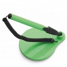 Stiloforo a sfera  con molla catenella e base adesiva VERDE LIME utile per reception varie attività