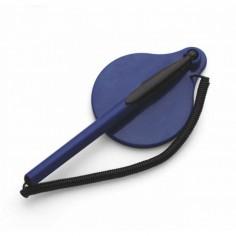 Stiloforo a sfera  con molla catenella e base adesiva BLU utile per reception varie attività