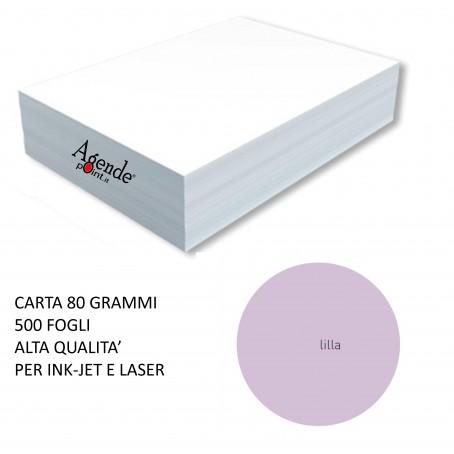 Risma carta color lilla A4 - 80gr 500ff - monocolore