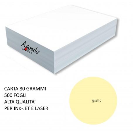 Risma carta color giallo A4 - 80gr  500ff  - monocolore