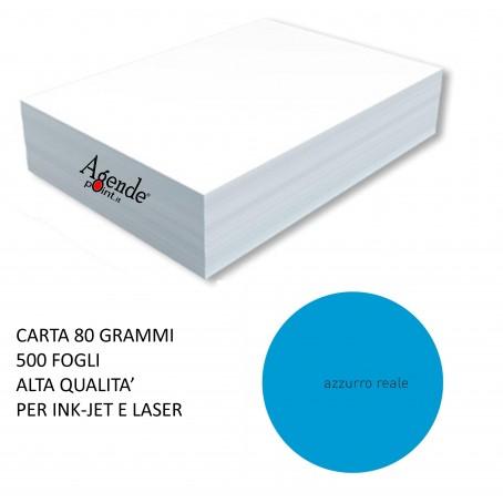 Risma carta color azzurro A4 - 80gr  500ff  - monocolore