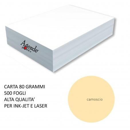 Risma carta color camoscio A4 - 80gr  500ff  - monocolore