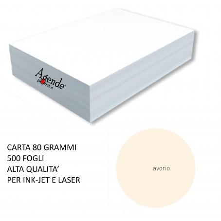 Risma carta color avorio A4 - 80gr  500ff  - monocolore