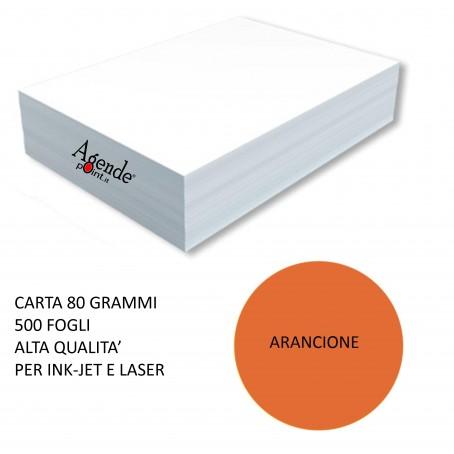 Risma carta color arancio A4 - 80gr  500ff  - monocolore