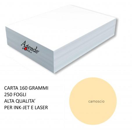 Risma cartoncino color camoscio A4 - 160gr  250ff  - monocolore