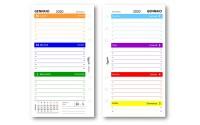 Ricambio agenda 2020 settimanale COLORS 9,5 x 17 bilingua ( carta 90 gr ) in 7 colori ricambio agenda organizer