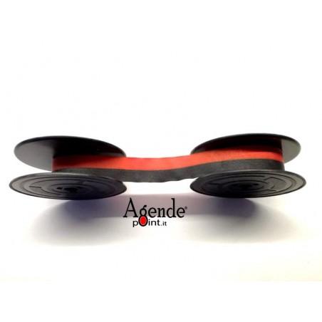 Nastro per macchine da scrivere ANTARES ed altre marche  - tessuto nero rosso