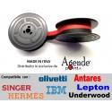 Nastro per macchine da scrivere Olivetti Lettera 22-25-35 e tanti altri  - nylon nero rosso