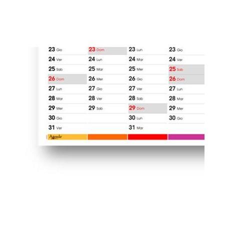 Calendario da muro 2020 COLORS planner annuale  87x62 ( 170 gr semilucida) planner da muro spedito arrotolato