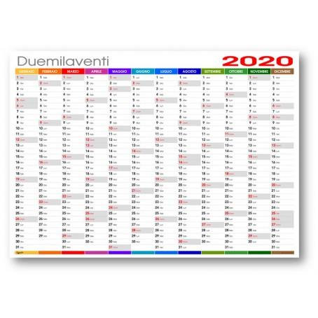 Calendario Iva 2020.Calendario Da Muro 2020 Colors Planning Annuale 87x62 170 Gr Patinato Opaco Planner Da Muro Spedito Arrotolato