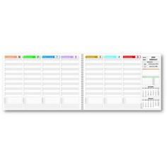 Planning da tavolo 21x30 PIXEL DOUBLE (59 x 21 aperto) anno 2020 ( 55 fogli da 90 gr ) agenda da tavolo