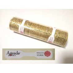 Sigilli per blister per monete euro ( 360 pezzi ) in carta 46x8 sigilli di sicurezza