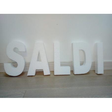 "Scritta ""SALDI""   3D in polistirolo ( 30 cm Altezza ) 4 cm spessore  - per decorazioni insegne e scritte"