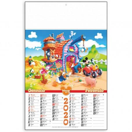 Calendario olandese murale 5 PEZZI 2020 a strappo 46x29