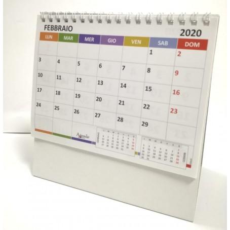 Calendario Per Appunti.Calendario Da Tavolo Triangolare Spiralato Colors 16x12 Doppia Faccia E Caselle Appunti 1 Pezzo