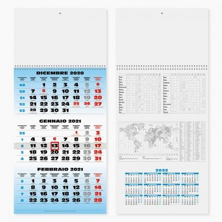 Calendario olandese murale 2021 COLOR a strappo 46x29 PEZZI 2