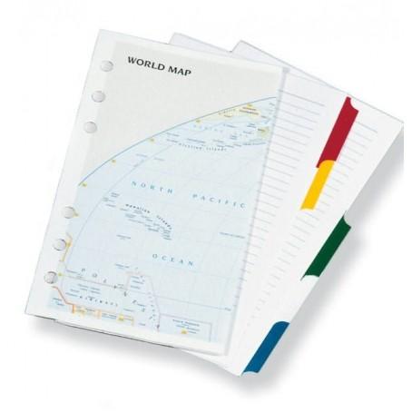 Ricambio divisori e cartina  9x17 - per agende organizer