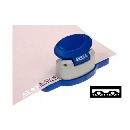 Perforatore fustella per bordi - soggetto 2 cuori