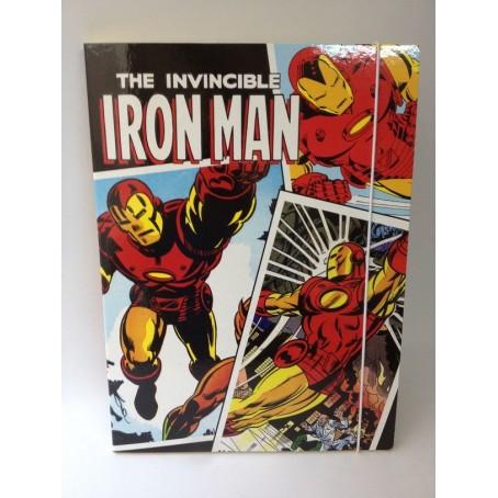 Iron Man  carpetta con elastico panini - dorso 1 cm