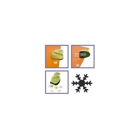 Perforatore BIG craft punch a leva : forma fiocco di neve