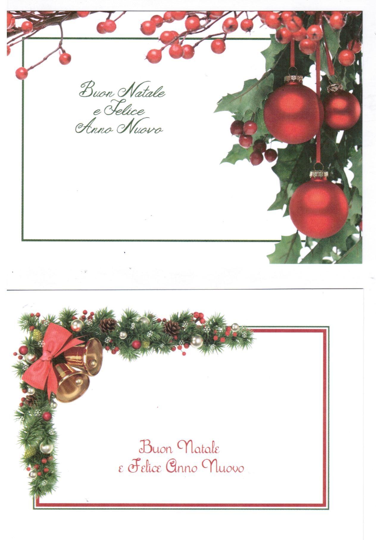 Buon Natale Particolare.Biglietti Auguri Monofaccia Buon Natale E Felice Anno Nuovo 2 Pezzi