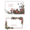 Biglietti auguri monofaccia Buon Natale e felice anno nuovo - 2 pezzi con busta - mod2