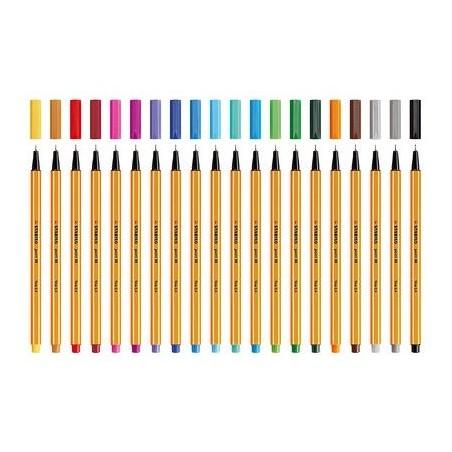 Penna Stabilo Point 88 - 15 vari colori