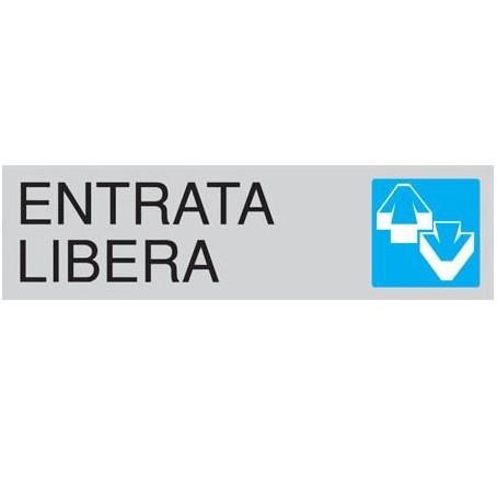 Targa segnaletica ENTRATA LIBERA - adesiva 4x15